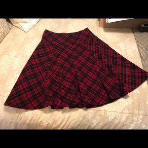 Lauren by Ralph Lauren Wool Plaid Midi skirt